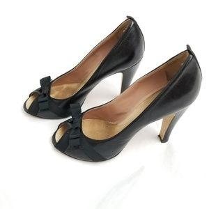 Mark Jacobs Black Bow Detail Leather Heels